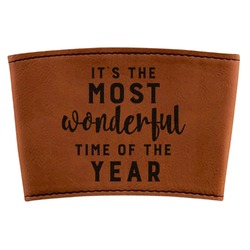 Christmas Quotes and Sayings Leatherette Cup Sleeve