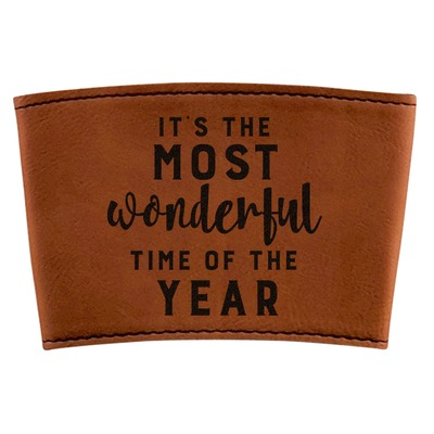 Christmas Quotes and Sayings Leatherette Mug Sleeve (Personalized)