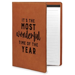 Christmas Quotes and Sayings Leatherette Portfolio with Notepad (Personalized)