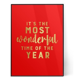 Christmas Quotes and Sayings 5x7 Red Foil Print (Personalized)