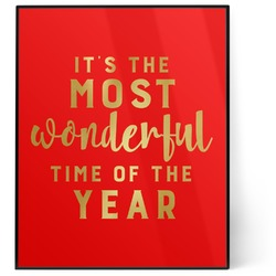 Christmas Quotes and Sayings 8x10 Foil Wall Art - Red (Personalized)