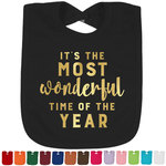 Christmas Quotes and Sayings Foil Baby Bibs (Select Foil Color) (Personalized)