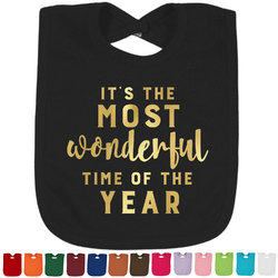 Christmas Quotes and Sayings Foil Toddler Bibs (Select Foil Color) (Personalized)
