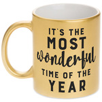 Christmas Quotes and Sayings Gold Mug (Personalized)