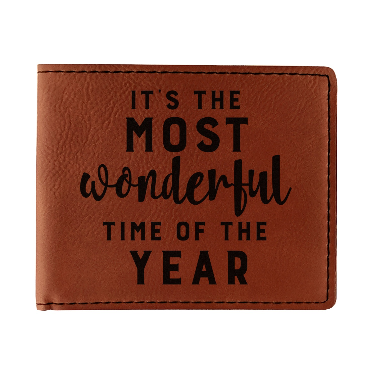 Single For The Holidays Quotes: Christmas Quotes And Sayings Leatherette Bifold Wallet