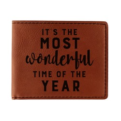 Christmas Quotes and Sayings Leatherette Bifold Wallet (Personalized)