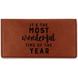 Christmas Quotes and Sayings Leatherette Checkbook Holder (Personalized)