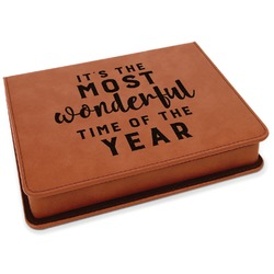 Christmas Quotes and Sayings Leatherette 4-Piece Wine Tool Set (Personalized)