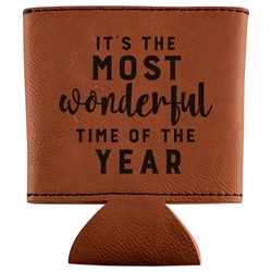 Christmas Quotes and Sayings Leatherette Can Sleeve (Personalized)