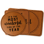 Christmas Quotes and Sayings Faux Leather Iron On Patch