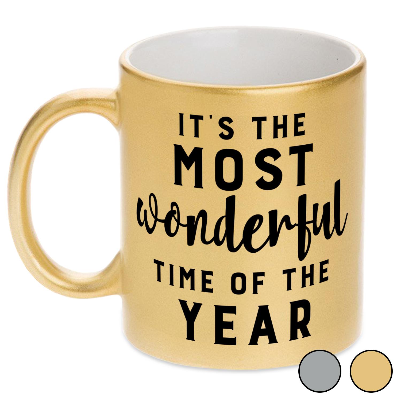 Christmas Quotes And Sayings Metallic Mug Youcustomizeit