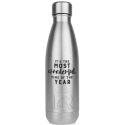 Christmas Quotes and Sayings RTIC Bottle - Silver (Personalized)