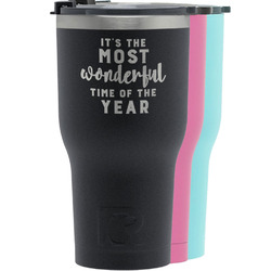 Christmas Quotes and Sayings RTIC Tumbler - Black (Personalized)