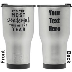 Christmas Quotes and Sayings RTIC Tumbler - Silver - Engraved Front & Back (Personalized)