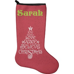Christmas Quotes and Sayings Holiday Stocking - Neoprene