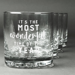 Christmas Quotes and Sayings Whiskey Glasses (Set of 4) (Personalized)