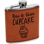 Cute Quotes and Sayings Leatherette Wrapped Stainless Steel Flask (Personalized)