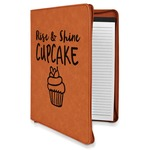 Cute Quotes and Sayings Leatherette Zipper Portfolio with Notepad (Personalized)