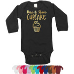 Cute Quotes and Sayings Bodysuit w/Foil - Long Sleeves (Personalized)