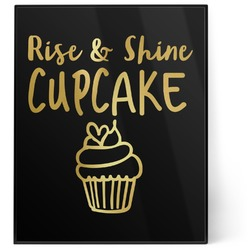 Cute Quotes and Sayings 8x10 Foil Wall Art - Black (Personalized)