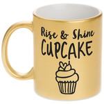 Cute Quotes and Sayings Gold Mug (Personalized)