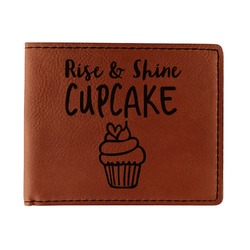 Cute Quotes and Sayings Leatherette Bifold Wallet (Personalized)