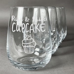 Cute Quotes and Sayings Stemless Wine Glasses (Set of 4) (Personalized)