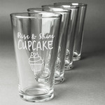 Cute Quotes and Sayings Beer Glasses (Set of 4) (Personalized)