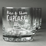 Cute Quotes and Sayings Whiskey Glasses (Set of 4) (Personalized)