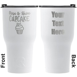 Cute Quotes and Sayings RTIC Tumbler - White - Engraved Front & Back (Personalized)