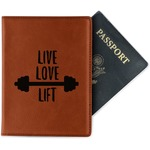 Exercise Quotes and Sayings Leatherette Passport Holder (Personalized)