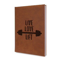 Exercise Quotes and Sayings Leatherette Journal (Personalized)