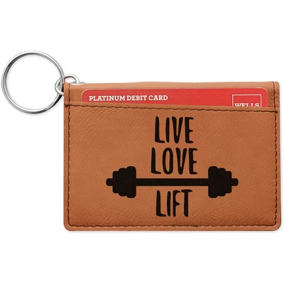 Exercise Quotes and Sayings Leatherette Keychain ID Holder (Personalized)