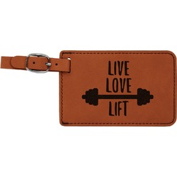 Exercise Quotes and Sayings Leatherette Luggage Tag (Personalized)