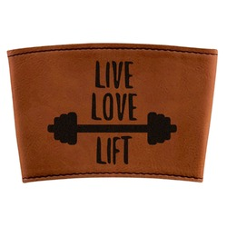 Exercise Quotes and Sayings Leatherette Mug Sleeve (Personalized)