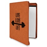 Exercise Quotes and Sayings Leatherette Zipper Portfolio with Notepad (Personalized)