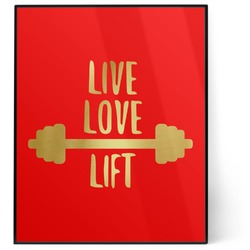 Exercise Quotes and Sayings 8x10 Foil Wall Art - Red (Personalized)