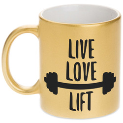Exercise Quotes and Sayings Gold Mug