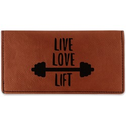 Exercise Quotes and Sayings Leatherette Checkbook Holder (Personalized)