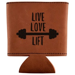 Exercise Quotes and Sayings Leatherette Can Sleeve (Personalized)