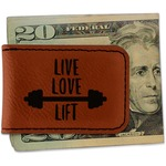Exercise Quotes and Sayings Leatherette Magnetic Money Clip (Personalized)