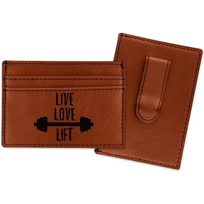 Exercise Quotes and Sayings Leatherette Wallet with Money Clip (Personalized)