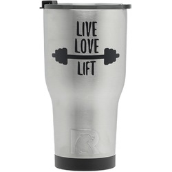Exercise Quotes and Sayings RTIC Tumbler - Silver (Personalized)
