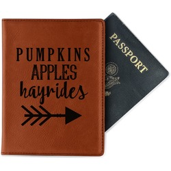 Fall Quotes and Sayings Leatherette Passport Holder (Personalized)