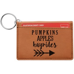 Fall Quotes and Sayings Leatherette Keychain ID Holder (Personalized)