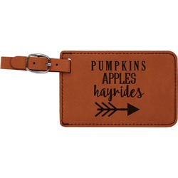 Fall Quotes and Sayings Leatherette Luggage Tag (Personalized)
