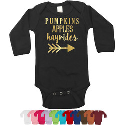 Fall Quotes and Sayings Foil Bodysuit - Long Sleeves - 6-12 months - Gold, Silver or Rose Gold (Personalized)