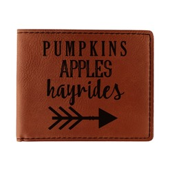 Fall Quotes and Sayings Leatherette Bifold Wallet (Personalized)