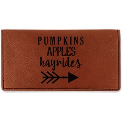 Fall Quotes and Sayings Leatherette Checkbook Holder (Personalized)