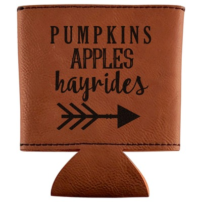 Fall Quotes and Sayings Leatherette Can Sleeve (Personalized)